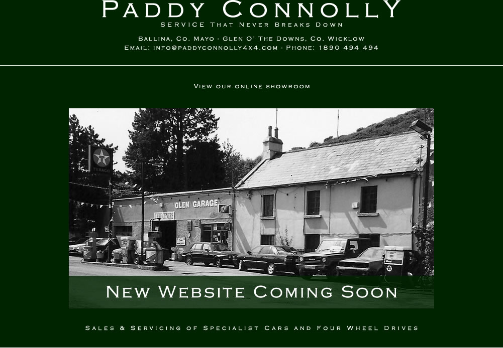 Paddy Connolly Service That Never Breaks Down